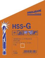 "PROJAHN Spiralbohrer Set 6-tlg HSS-G Ø 3-10 mm 1//4/"" 6-kant Schaft 13302 Stahl"