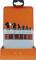PROJAHN Kegelsenker Set dreischneidig 90° 6-tlg. HSS-Co 5% ATN DIN 335 C Ø 6,3 - 20,5 mm Zylinderschaft