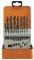 PROJAHN Eco Spiralbohrer Set 19-tlg. HSS-R DIN 338 Typ N Ø 1 - 10 mm Zylinderschaft
