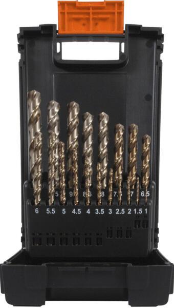 PROJAHN Spiralbohrer Set 19-tlg. HSS-Co 8 % DIN 338 Typ HD Ø 1 - 10 mm Zylinderschaft
