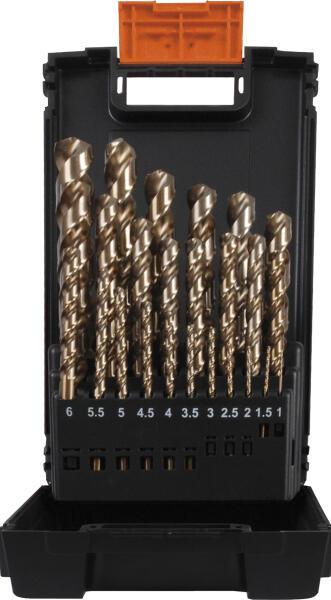 PROJAHN Spiralbohrer Set 25-tlg. HSS-Co 8% DIN 338 Typ HD Ø 1 - 13 mm Zylinderschaft