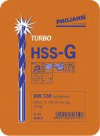 PROJAHN Turbo Spiralbohrer Set 19-tlg. HSS-G DIN 338 Typ N Ø 1 - 10 mm Zylinderschaft