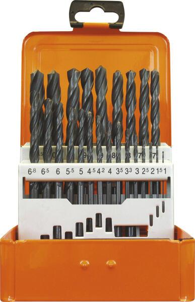 PROJAHN Eco Spiralbohrer Set 24-tlg. HSS-R DIN 338 Typ N Ø 1 - 10,5 mm Zylinderschaft