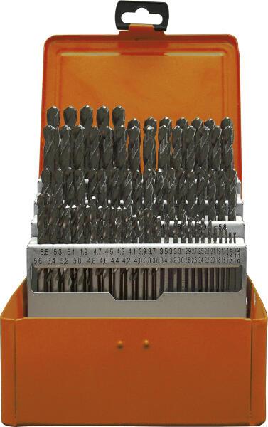 PROJAHN Eco Spiralbohrer Set 91-tlg. HSS-R DIN 338 Typ N Ø 1 - 10 mm Zylinderschaft