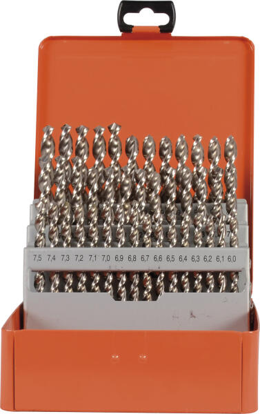 PROJAHN Spiralbohrer Set 41-tlg. HSS-Co 5% DIN 338 Typ UF-L Ø 6 - 10 mm Zylinderschaft