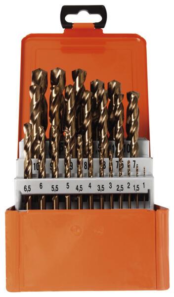 PROJAHN Basic Spiralbohrer Set 25-tlg. HSS-Co 5% DIN 338 Typ N Ø 1 - 13 mm Zylinderschaft