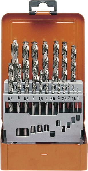 PROJAHN Speed Spiralbohrer Set 19-tlg. HSS-Co 5% DIN 338 Typ S Ø 1 - 10 mm Zylinderschaft