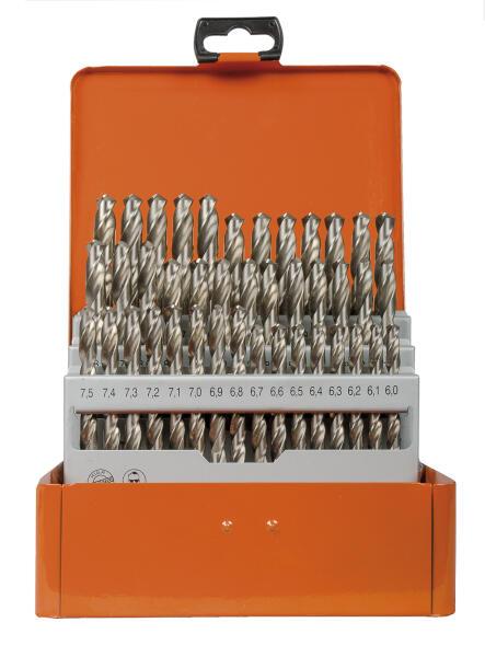 PROJAHN Turbo Spiralbohrer Set 41-tlg. HSS-G DIN 338 Typ N Ø 6 - 10 mm Zylinderschaft
