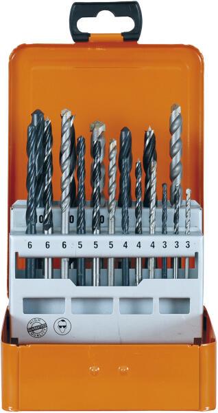 PROJAHN Spiralbohrer Set 18-tlg. HSS DIN 338 Typ N  Ø 3-10 mm Zylinderschaft