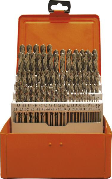 PROJAHN Speed Spiralbohrer Set 50-tlg. HSS-Co 5% DIN 338 Typ S Ø 1-5,9 mm Zylinderschaft