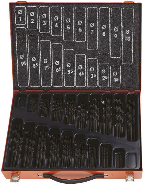 PROJAHN Eco Spiralbohrer Set 170-tlg. HSS-R DIN 338 Ø 1 - 10 mm Zylinderschaft