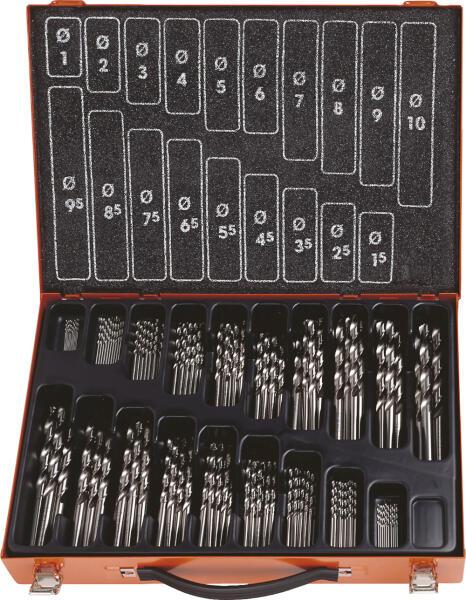 PROJAHN Eco Spiralbohrer Set 170-tlg. HSS-Co 5% DIN 338 Ø 1 - 10 mm Zylinderschaft