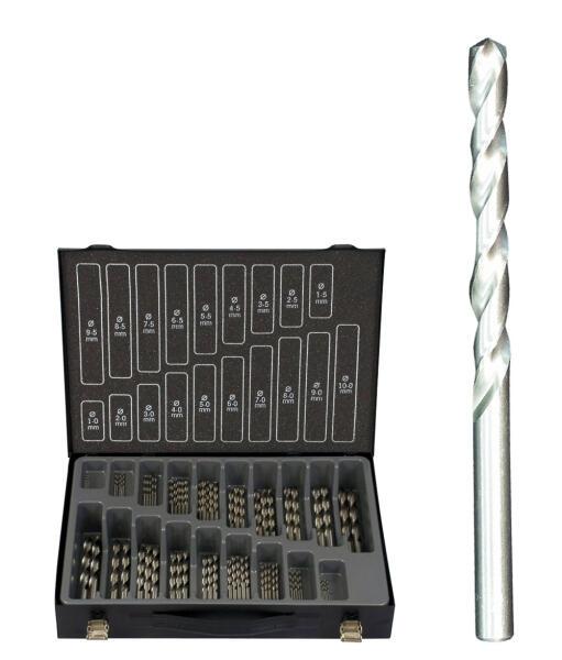 PROJAHN Basic Spiralbohrer Set 170-tlg. HSS-G DIN 338 Ø 1 - 10 mm Zylinderschaft
