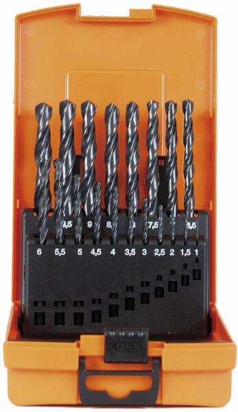 PROJAHN Eco Spiralbohrer Set 19-tlg. HSS-R DIN 338 Typ N Ø 11 - 10 mm Zylinderschaft