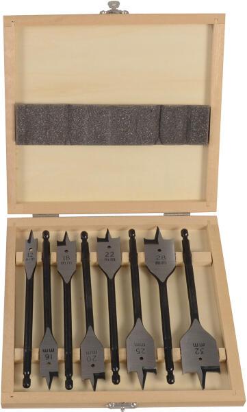 """PROJAHN Flachzentrumbohrer Set 8-tlg. Ø 12 - 32 mm 1/4"""" 6-kant Schaft"""