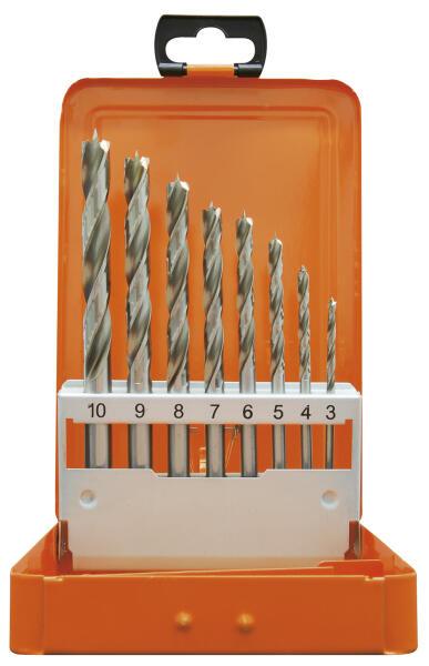 PROJAHN Spiralbohrer Set 8-tlg. HSS Ø 3 - 10 mm Zylinderschaft