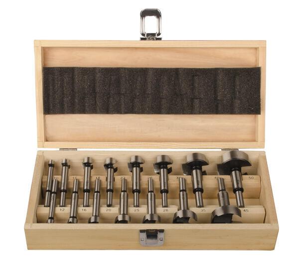 PROJAHN Eco Forstnerbohrer Set 15-tlg. für Holz Ø 10 - 50 mm Zylinderschaft