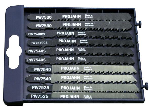 PROJAHN HolzPRO Stichsägeblätter Set 10-tlg. für Holz/Kunststoff 75 mm mit Einnockenschaft