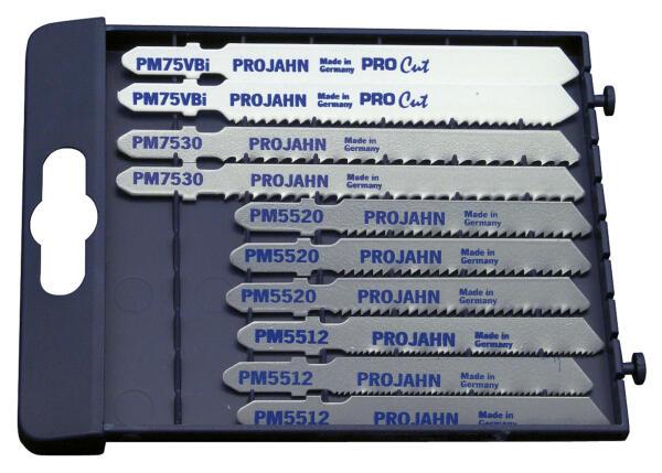 PROJAHN MetallPRO Stichsägeblätter Set 10-tlg. für Metall 55 + 75 mm mit Einnockenschaft
