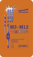 PROJAHN Hand-Gewindebohrer Set 29-tlg. Gewindebohrer M3 - M12 + Kernlochbohrer 4-kant
