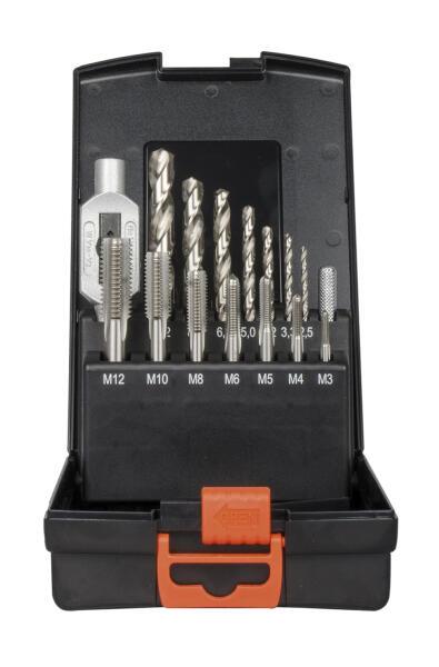 PROJAHN Einschnitt-Gewindeschneidzeug Set 15-tlg. M3 - M12 für Maschinen und Handgebrauch