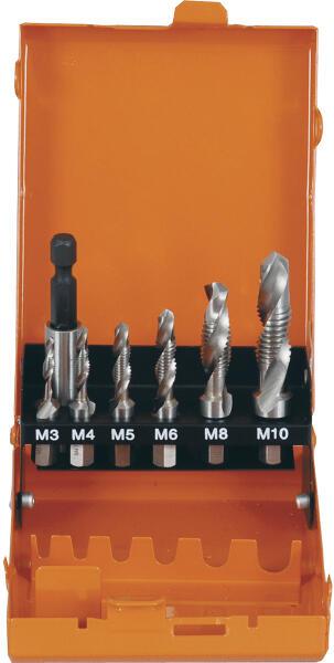 """PROJAHN Kombi-Gewindebohrer-Bit Set 7-tlg. HSS-G M3 - M10 1/4"""" 6-kant Schaft"""