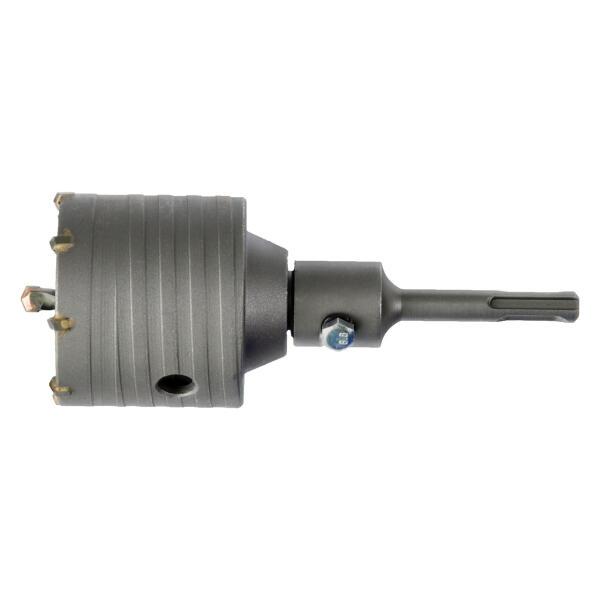 PROJAHN Schlagbohrkrone Ø 82 mm M22 + SDS-plus Adapter + Zentrierbohrer