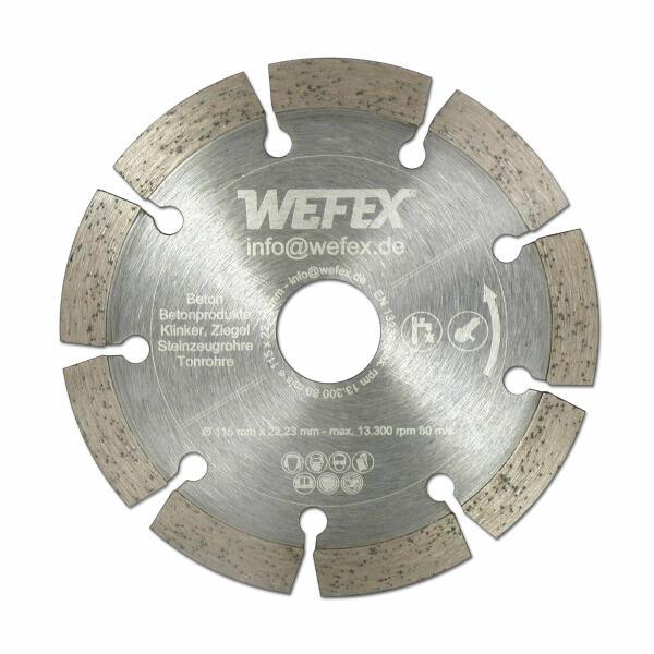 Diamant-Trennscheibe Eco-Beton Ø 115 mm Aufnahme 22,2 mm