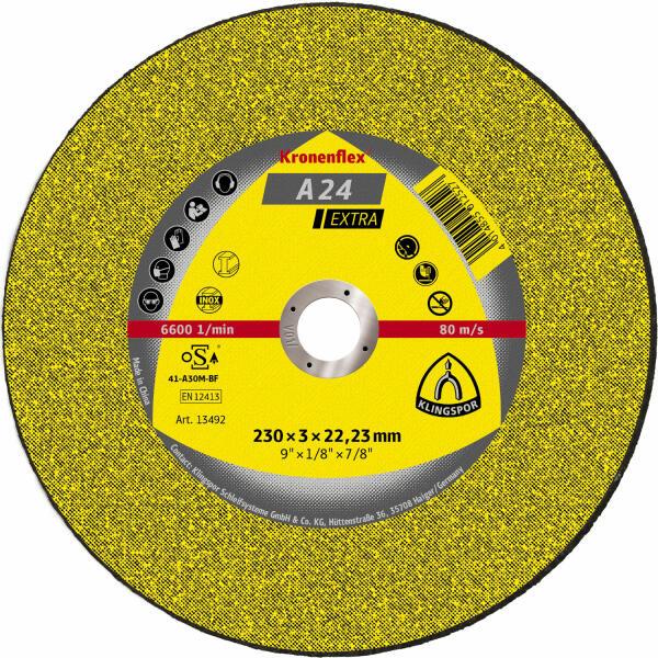 Klingspor Kronenflex A 24 Extra Trennscheibe 230 x 3 x 22,2 mm gerade