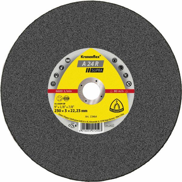 Klingspor Kronenflex A 24 R Supra Trennscheibe 230 x 3 x 22,2 mm gerade