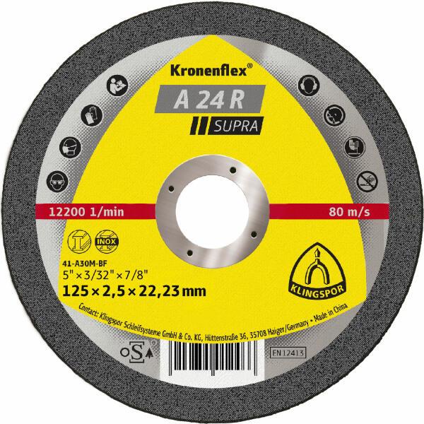 Klingspor Kronenflex A 24 R Supra Trennscheibe 125 x 2,5 x 22,2 mm gekröpft