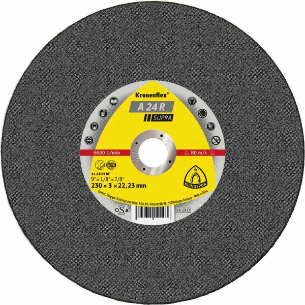 Klingspor Kronenflex A 24 R Supra Trennscheibe 230 x 3 x 22,2 mm gekröpft