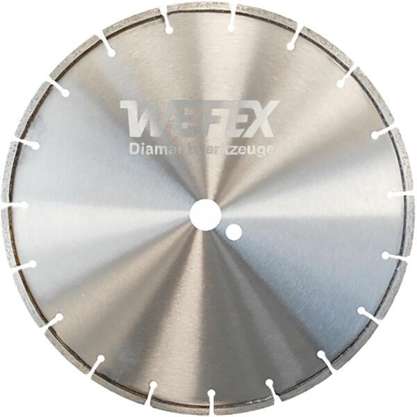 Diamant-Trennscheibe Breitschnitt Asphalt Ø 350 mm Breite 6 - 15 mm Aufnahme 25,4 mm