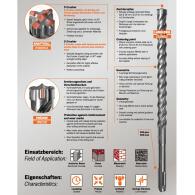 PROJAHN Hammerbohrer Rocket 5 SDS-plus Set 5-tlg. Ø 6+8+10+12 mm in Kunststoffkassette