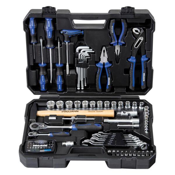 """PROJAHN proficraft Werkzeug-Koffer Universal 1/4"""" + 1/2"""" 98-tlg. inkl. 72-Zahn Umschaltknarre"""
