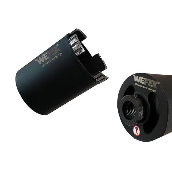 Diamant-Dosensenker Fast-Drill mit Absaugöffnungen Ø 82 mm M16 Nutzlänge 80 mm