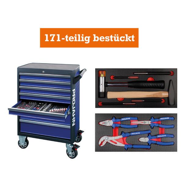 PROJAHN GALAXY Werkstattwagen 171-tlg. bestückt Blau/Anthrazit