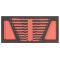 PROJAHN ProForm Werkstattwagen-Einlage für 9 Doppelgabelschlüssel