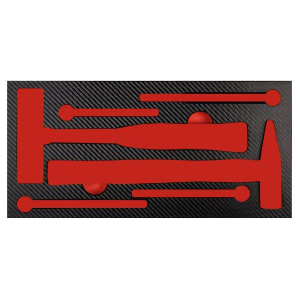 PROJAHN ProForm Werkstattwagen-Einlage für 6 Schlagwerkzeuge
