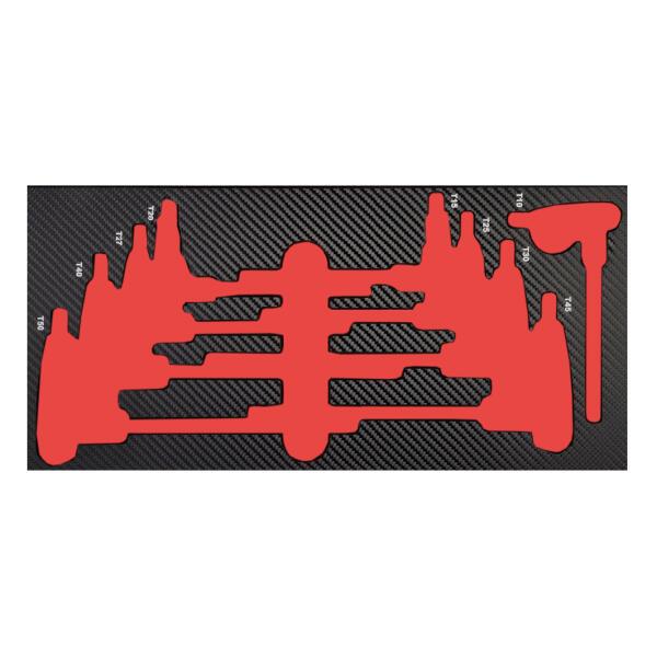 PROJAHN ProForm Werkstattwagen-Einlage für Quergriff-Schraubendreher TX