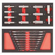 PROJAHN UNIVERSE Werkstattwagen + Aufsatz 415-tlg. bestückt Rot