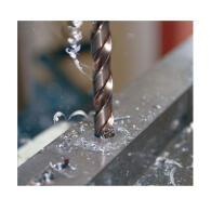Kurzer Spiralbohrer 10,0 x 133 mm HSS-Co DIN 338 VA Eco mit Zylinderschaft