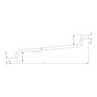 PROJAHN Doppelringschlüssel 24 x 27 mm tief gekröpft DIN 838