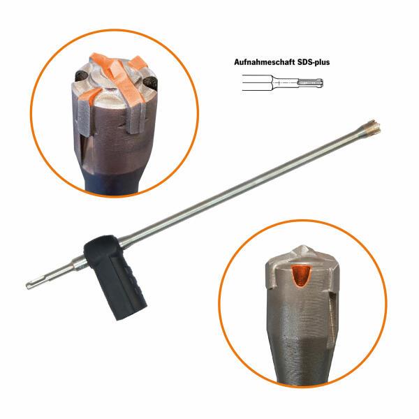 PROJAHN Cleaner Absaugbohrer SDS-plus Ø 12-24 mm Länge 330-450 mm
