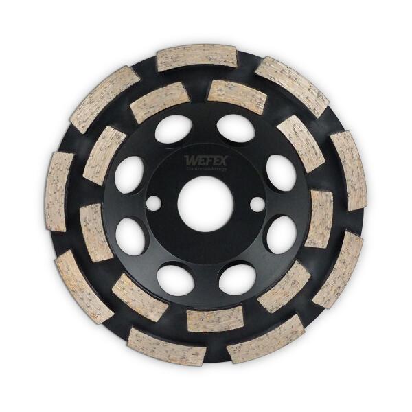 Diamant-Topfschleifer Abrasiv doppelreihig Ø 125 mm Aufnahme 22,2 mm Bauhöhe 22 mm