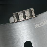 Diamant-Trockenbohrkrone Turbo Segment Ø 127 mm M16 Nutzlänge 170 mm