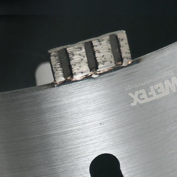 Diamant-Trockenbohrkrone Turbo Segment Ø 152 mm M16 Nutzlänge 170 mm
