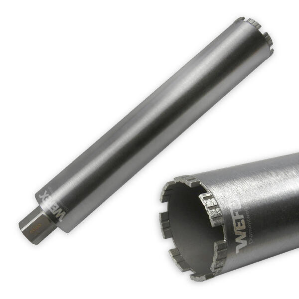 "Diamant-Bohrkrone Laser Turbo Ø 76 mm 1 1/4"" UNC Nutzlänge 420 mm"