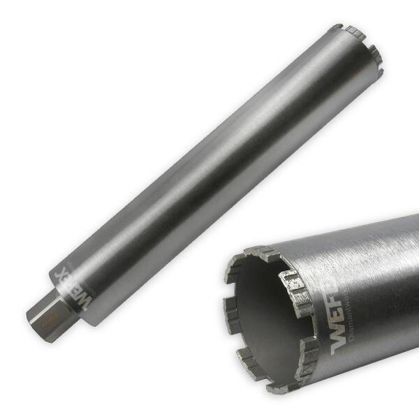 "Diamant-Bohrkrone Laser Turbo Ø 102 mm 1 1/4"" UNC Nutzlänge 420 mm"
