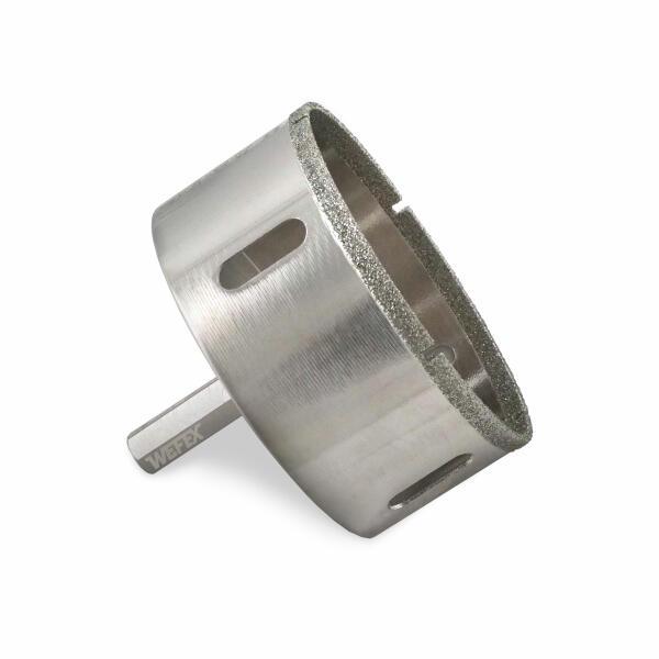 Diamant-Fliesenbohrkrone dünnlippig Ø 65 mm Sechskantschaft